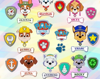picture regarding Free Printable Paw Patrol Badges identified as Paw patrol badges Etsy