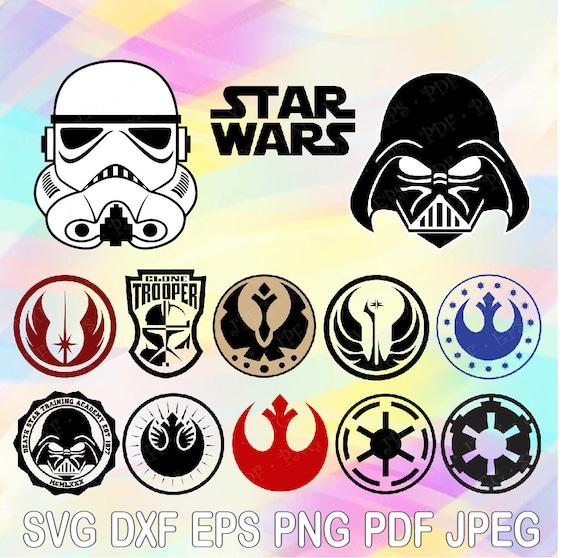 Svg Stormtrooper Darth Vader Star Wars Logo Symbols Cut Files Etsy