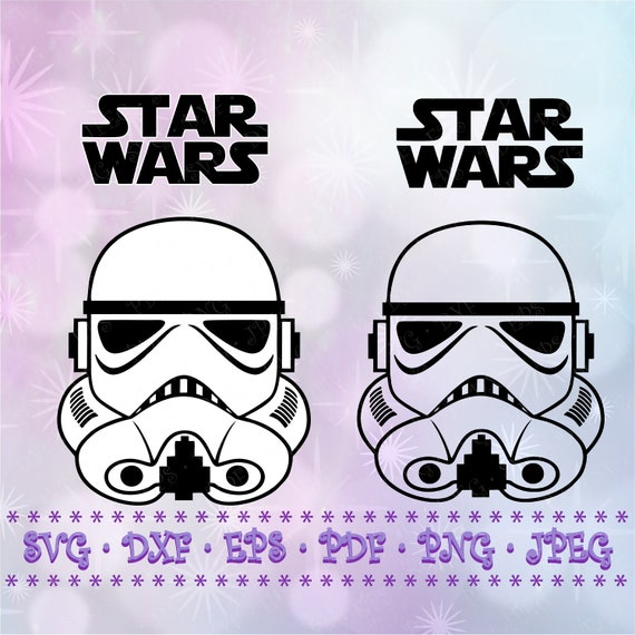 SVG DXF Star Wars Stormtrooper Helmet Cut Files Cricut Designs Silhouette Studio Vinyl Decal Transfer Paper Tshirt Iron On Stencil Template