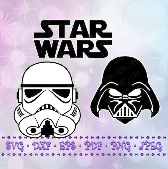 Svg Stormtrooper Darth Vader Star Wars Logo Cut Files Cricut Etsy