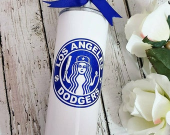 0d973f02085 Los Angeles Dodgers Tumbler - LA Dodgers - LA Tumbler - Steel Tumbler -  Dodgers Tumbler - Skinny Steel Tumbler - MLB Tumbler - Starbucks Cup