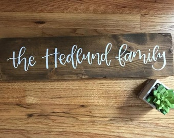 Rustic Family Sign, Personalized Family Name, Custom Home Decor