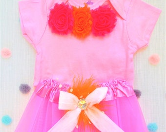 Sweet Lamb Clothing '2 Piece outfit Pink Baby Modified Onesie and Children's Modified Tutu' for Kids, girls