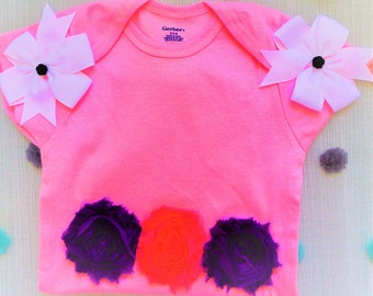 Sweet Lamb Clothing '2 Piece Children's Pink Flower Modified Onesie' for Kids, baby, infant, girls