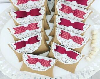 Scatoline porta confetti con fiocco