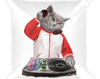 DJ Furry Boy Cushion