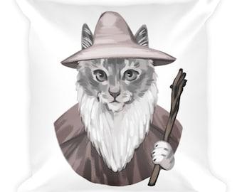 Catdalf the Grey Cushion