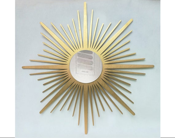 Gold Sunburst Mirror Sun Mirror Gold Home Decor Classic Etsy