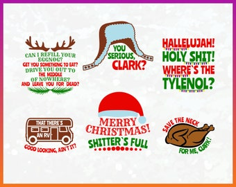 Christmas Quote Svg Cut File Bundle Griswold Svg Cricut Cameo Silhouette Funny Christmas Cricut Winter Design Iron On Vynil Transfer Decal