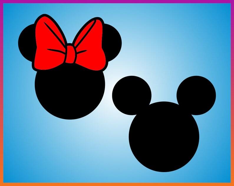 Minnie Mouse Kopf Svg Mickey Mouse Kopf Svg Vektor Clipart Etsy