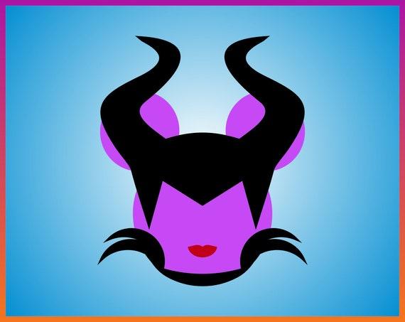 Disney Maleficent Svg Maleficent Mouse Head Svg Maleficent Ears Maleficent Svg Digital Download Decal Disney Villains Svg