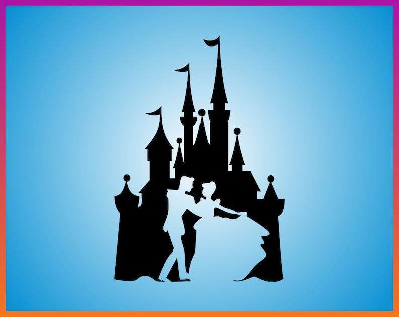 Cenerentola Svg Cenerentola Castello Disney Svg Svg Sagoma Etsy