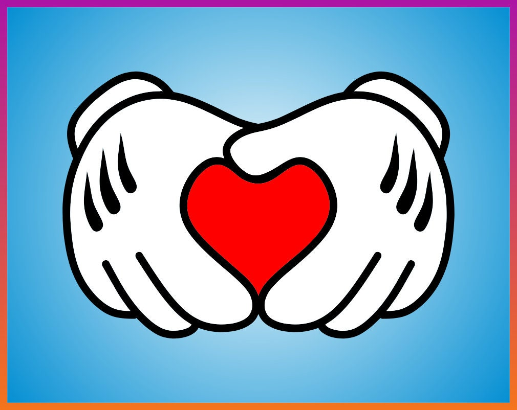 1721+ Mickey Mouse Love Svg Best Free SVG