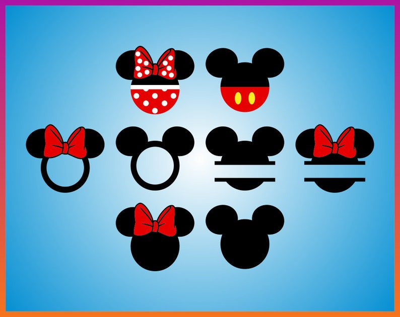 Disney Svg Bundle Mickey Mouse Svg Minnie Svg Disney Princess Etsy
