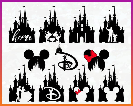 Disney Castle SVG Clipart Vector Download Iron