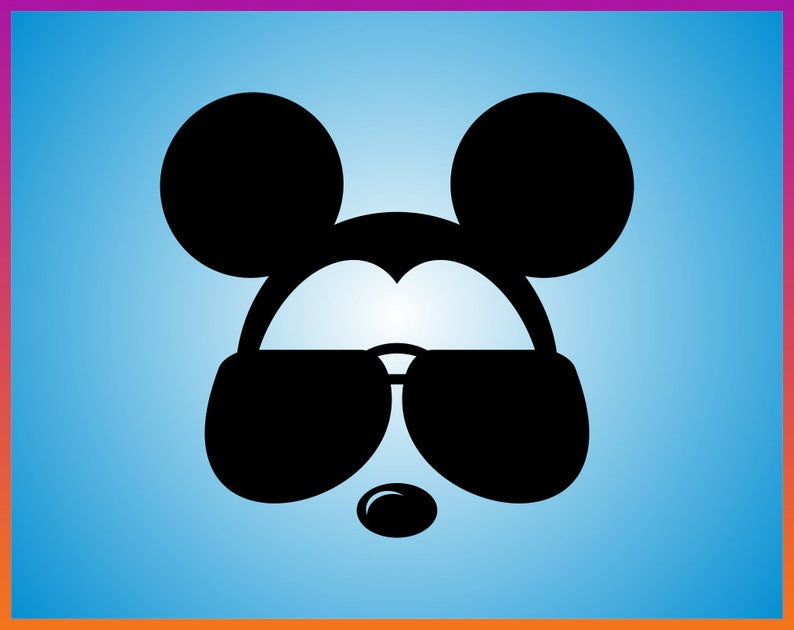 a54448378278c Mickey Mouse glasses SVG Mickey Sunglasses SVG mickey wall art
