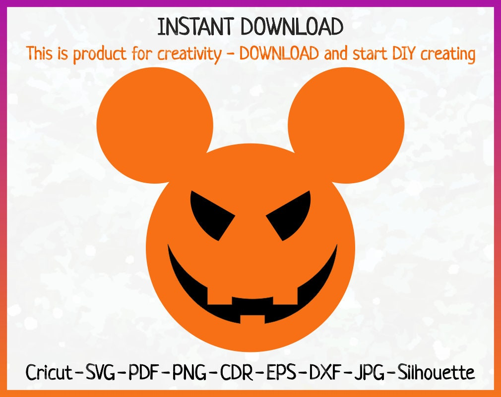 Disney Halloween Svg Jack\'o Laterne SVG Halloween Digital | Etsy