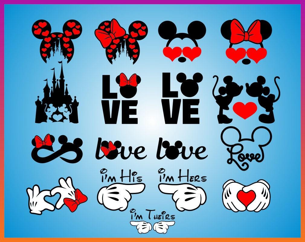 Disney Valentines day svg Disney Love Svg Mickey Minnie ...