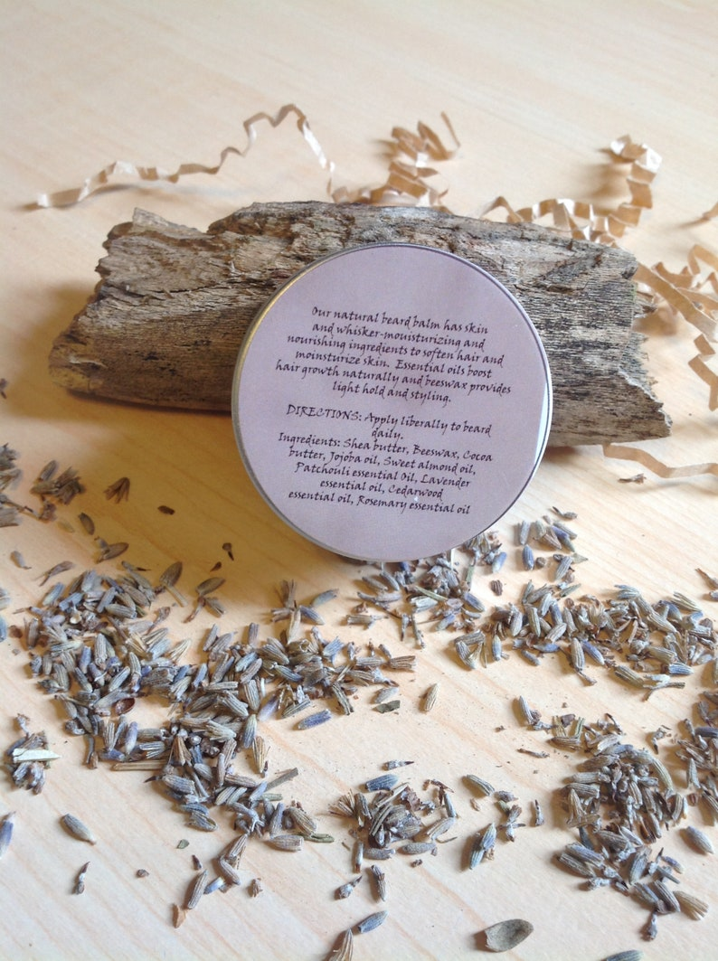 Beard Balm, Grow It In! Lavender and Patchouli Beard Balm, All-Natural  Beard Balm, Beard Rosemary Balm, Hippie Beard Balm, Patchouli Balm