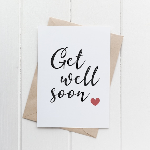 Get Well Soon Printable Card Downloadable Card Minimal Style Etsy