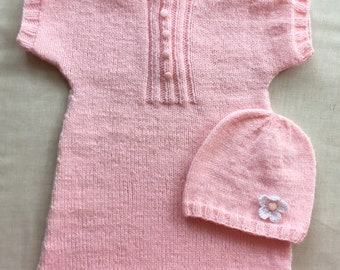 Pink Hand-knit Baby Dress