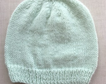 Mint Green Knit Baby Cap