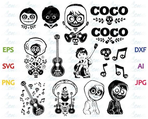 Disney Pixar Coco Svg Coco Clipart Shirt Coco Birthday Etsy