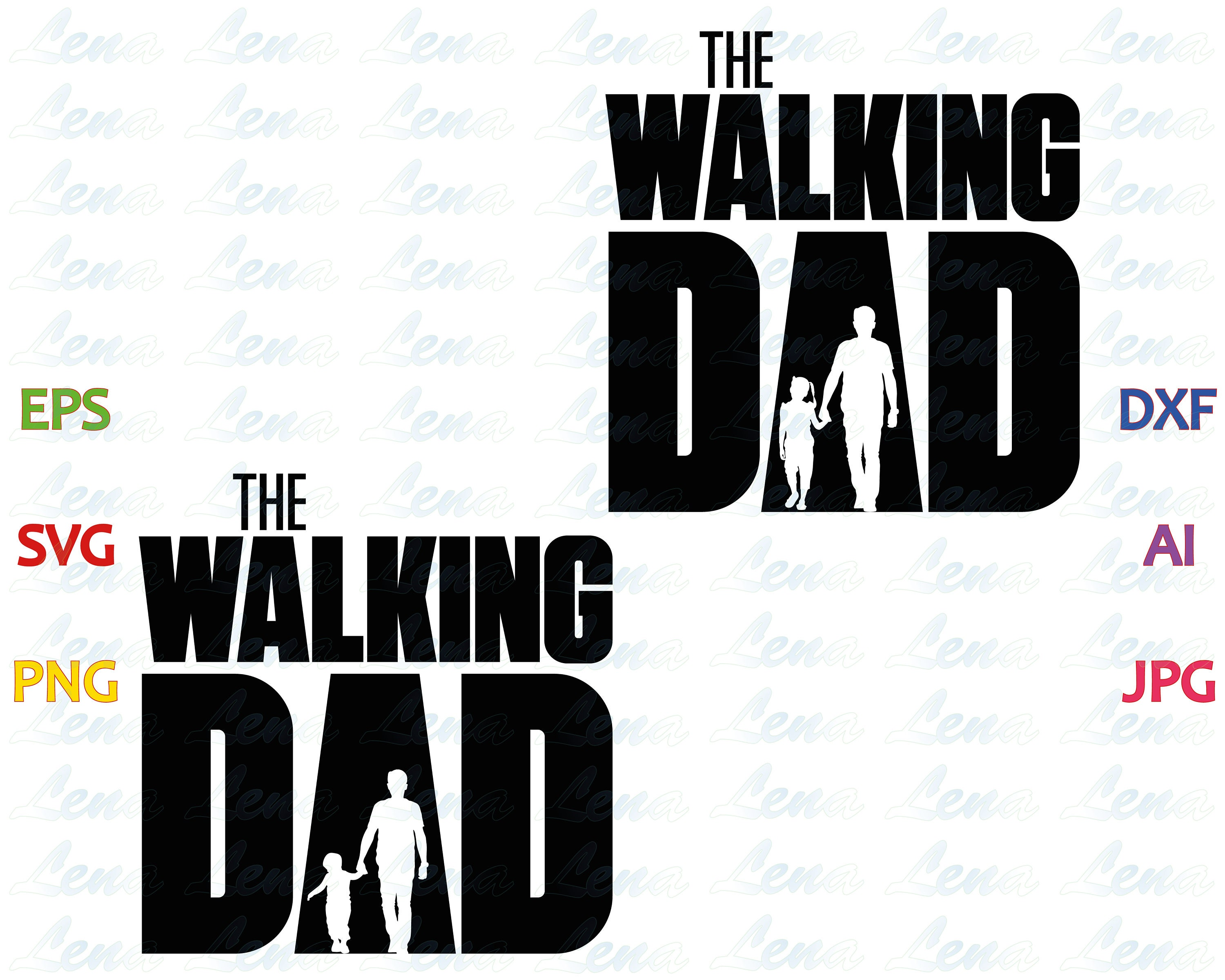 The Walking Dad SVG The Walking Dead T Shirt Fathers Day Gift | Etsy