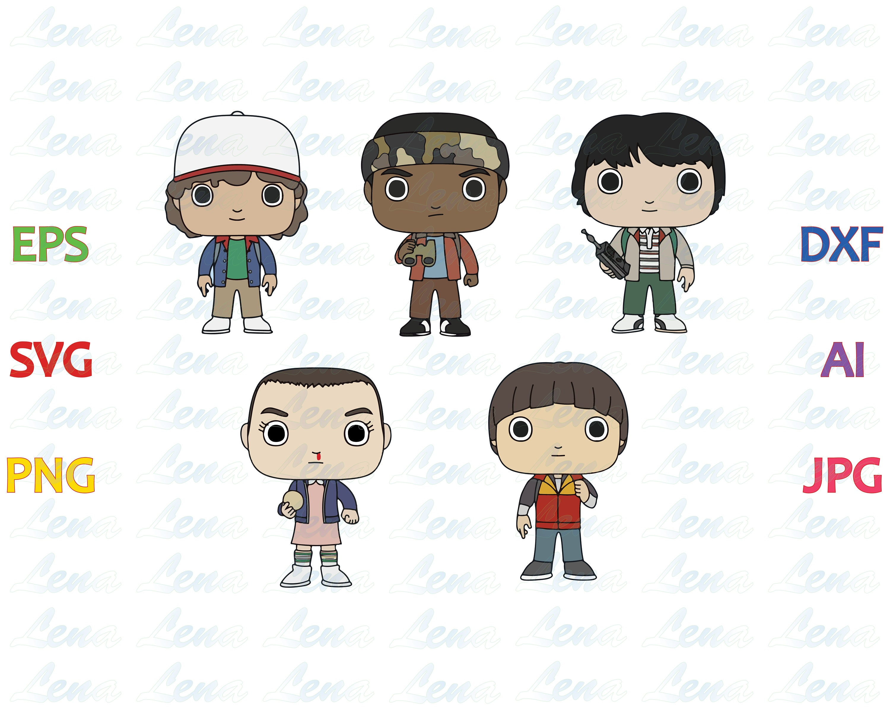 Stranger Things Character Mini Backpack - CEAGESP