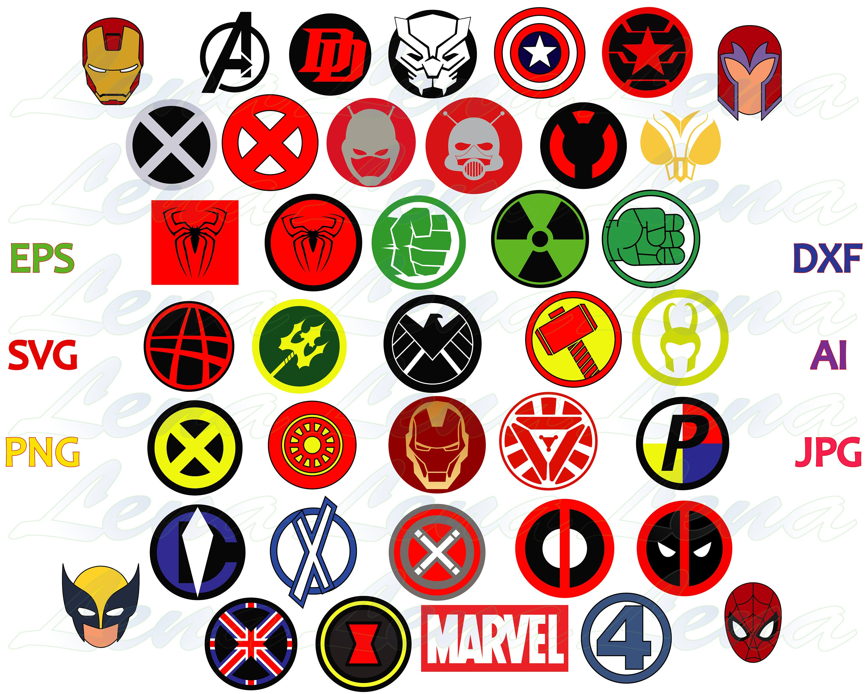 Marvel superhero logo SVG Marvel Avengers Superheroes Sign ...