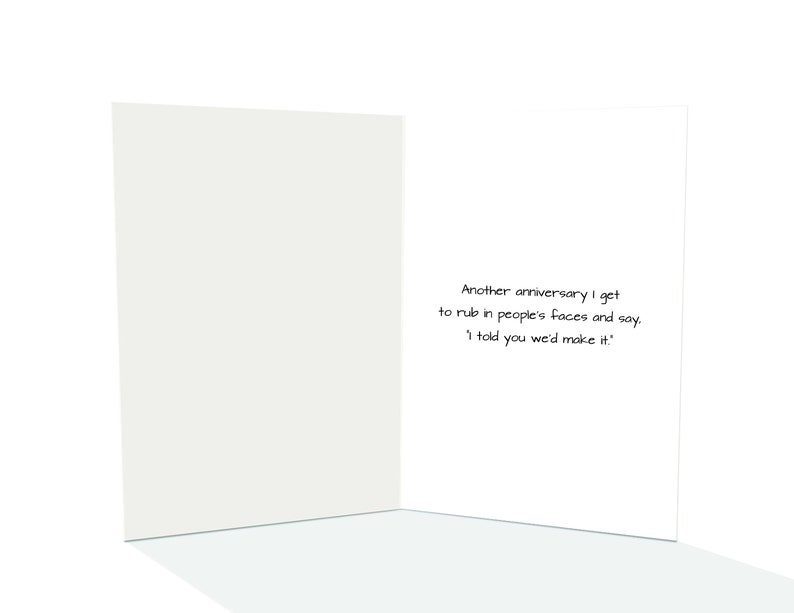 Funny greeting card Happy Anniversary funny greeting card Funny Anniversary Card