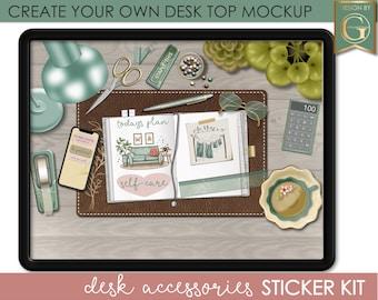 Desk mockup Digital Planner Stickers Goodnotes ,Ipad Digital Stickers, Digital Journal Stickers, Digital Bullet Journal, Springtime