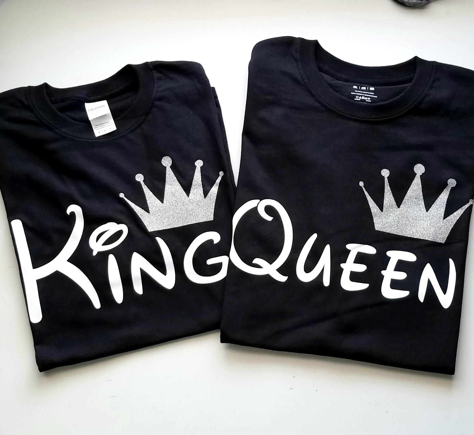 49c7fc39 Disney couple shirt Disney Trip King Queen Prince Princess   Etsy