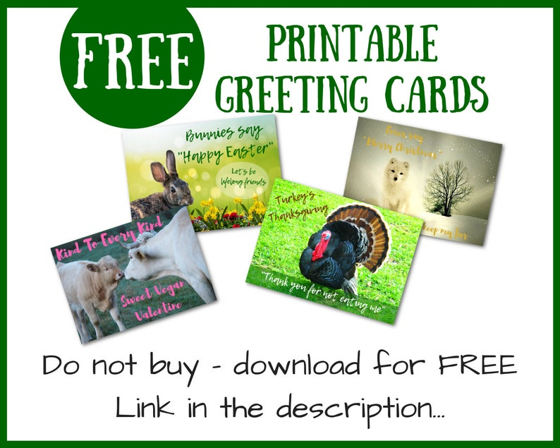 Australian Christmas Cards Free Download.Free Printable Greeting Cards For Vegans Do Not Buy Download For Free Valentine S Easter Thanksgiving Christmas Greeting Cards