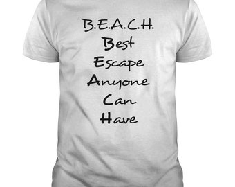 Best Escape Anyone Can Have T-shirt | Magicful Home Beach&Ocean | Men's and Women's Style | Various Colours | Supports Ocean Charity