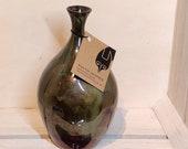 green & red two tone ceramic vase, hand made ceramic vase, gift, vase