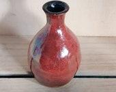 lustre red bud vase, hand made ceramic bud vase, gift, vase, miniature vase