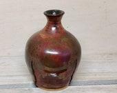 Copper vase, narrow necked vase, hand made ceramic vase, gift, bud vase