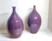 Purple vase, handmade stoneware vase, ceramic purple vase