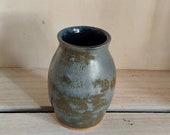 green & grey two tone ceramic vase, hand made ceramic vase, gift, vase