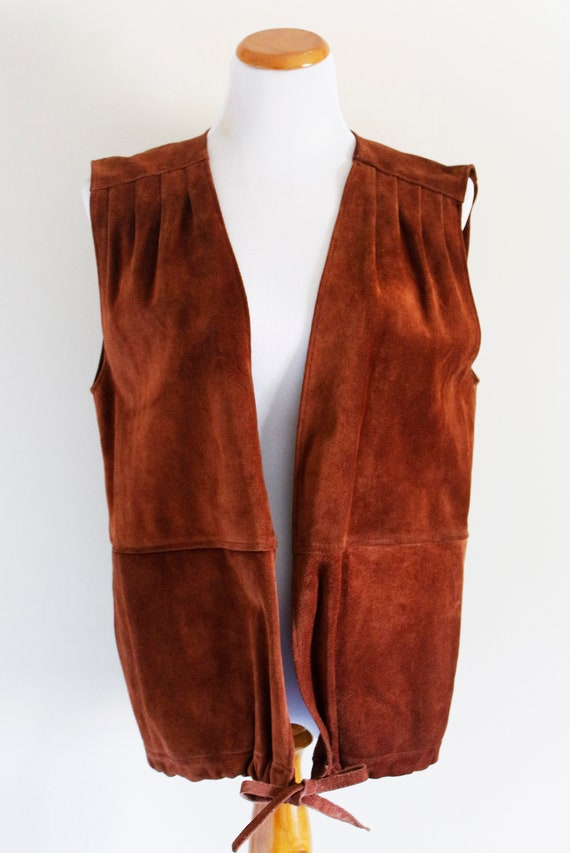 Vintage Brown Suede Vest