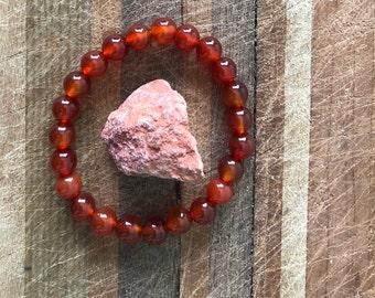 Sacral Chakra / Svadhisthana Balancing Bracelet & Stone Active