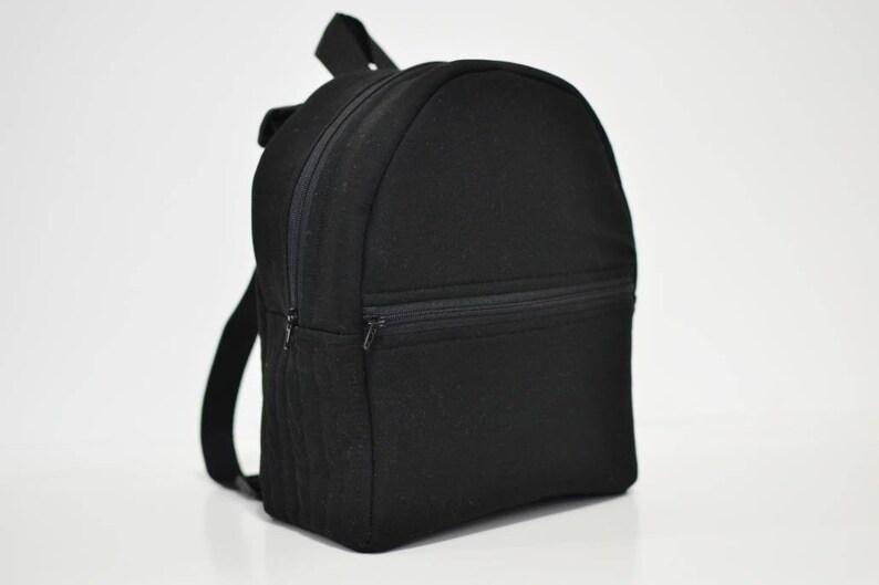 All Black Toddler backpack child backpack kids backpack  619679b23000c