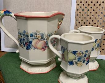 Vintage Avon Sweet Country Harvest Ceramic Napkin Holder