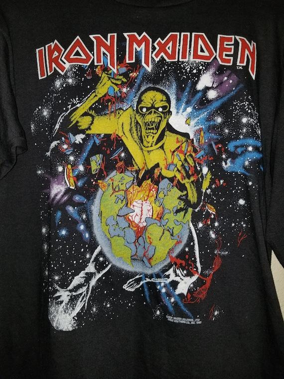 """Iron Maiden """"World Piece Tour '83"""" Tour Tee Shirt"""