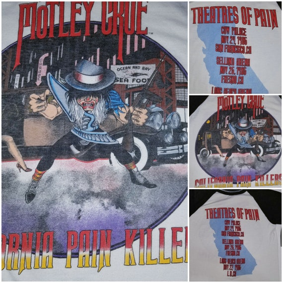 Motley Crue California Killers Pain Toyr 1985