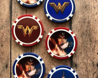 Wonder Woman Tokens Golf Ball Markers Marvel Movie