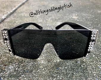 90a795daa63 Luxury Square Bling Sunglasses