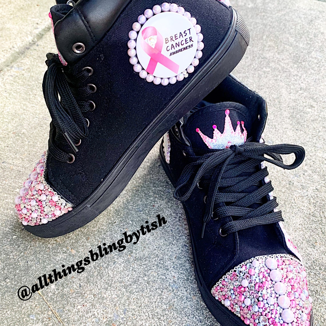 Breast Cancer Bling Sneakers - Big Sale Dan63