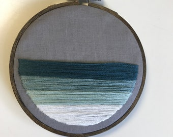 Ombre embroidery hoop// Embroidery hoop art / ombre / wall decor / modern